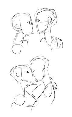 droil: how to draw kissing<<<they look cute just like this