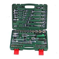 82 pcs kunci Kombinasi Ratchet Llave Torsi Kunci Pas 1/2 set Auto perbaikan Alat Tangan untuk Mobil Kit satu set kunci kunci pas DN105