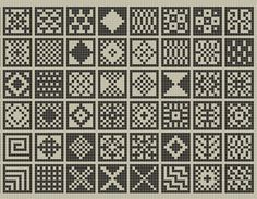 Ravelry: sanquhar-ish squares chart pattern by fiona bearclaw