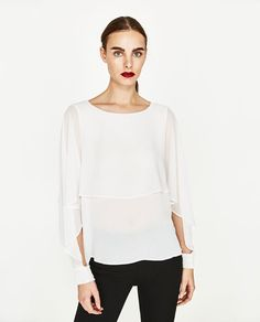 ZARA - COLLECTION SS/17 - DOUBLE-LAYER FLOWING BLOUSE