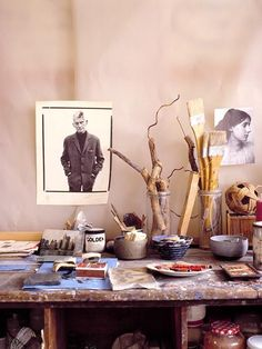 I love a peek into an artist's studio. (image by Tim Evan Cook)
