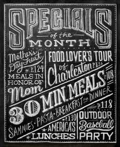 hand drawn chalkboard lettering #font