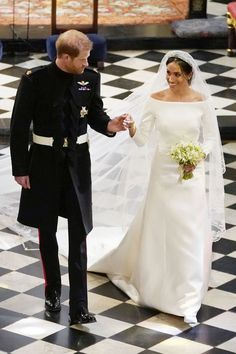 Meghan Markle and Prince Harry on their wedding day.