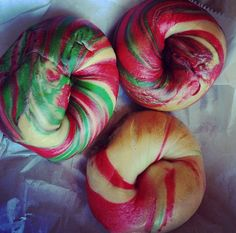 Colorful bagels!!
