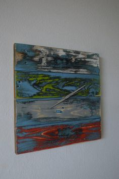 PalletWood / Drevené hodiny ART Painting, Art, Painting Art, Paintings, Kunst, Paint, Draw, Art Education, Artworks