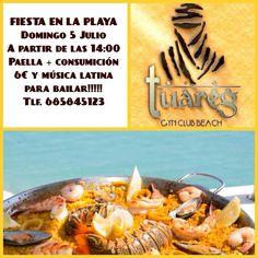 Domingo 5 julio, 14 h, Fiesta en la playa, Gym Club Beach  Más información cartel  Más información de eventos en Granada  https://www.facebook.com/quedadasgranada  Mario +34 616453927 WhatsApp apuntesgr@gmail.com