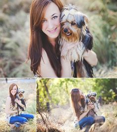 Erica Houck Photography session portrait senior shoot photoshoot puppy dog owner…
