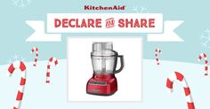 All I want for Christmas is the KitchenAid Architect® 13-Cup Food Processor in Candy Apple Red! Declare & Share the KitchenAid small appliance on your wish list, and you could win it! http://declareandshare.ca/