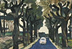 thunderstruck9: Alexander Deineka (Russian, 1899-1969), The Old Avenue, 1965-66. Gouache over pencil on paper, 30 x 43.5 cm.