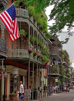 French Quarter in New Orleans, Louisiana (USA). I want to go sit in some old school jazz bars and have beignets at Cafe du Monde...