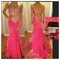 Pink Jonathan Kayne Beautiful pink stretch velvet gown.  In perfect condition. Johnathan Kayne Dresses Prom