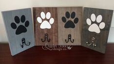 Dog leash holder dog leash holder dog leash holder paw print leash holder custom leash holder dog lover gift dog leash hook dog leash hook how to choose the right type of craft paint for wood crafts Dog Crafts, Animal Crafts, Wooden Crafts, Paper Crafts, Dog Leash Holder, Diy Signs, Dog Supplies, Wooden Signs, Wood Art
