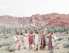 16 Boho Desert Wedding Ideas for the Most Gorgeous Nuptials EVER via Brit + Co
