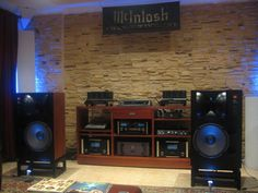Awesome JBL 4430 Control Monitors driven by McIntosh electronics