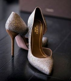 Gucci Crystal d'Orsay High Heels...Yes, Please!