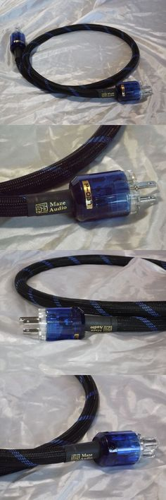 Audio Cables and Interconnects: Maze Audio Black/Blu Eden Series Audiophile 4Ft Ac Power Cord 10 Ga Gauge Pangea -> BUY IT NOW ONLY: $69.95 on eBay!