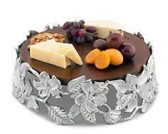 Arthur Court Magnolia Wood Cheese Pedestal from Gifts for... https://www.amazon.com/dp/B01HX2XC2U/ref=cm_sw_r_pi_dp_E1yExbC3520V7