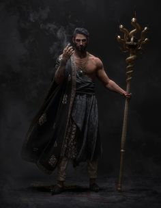 Men of Color In Fantasy Art — Arabian Wizard by Minsu Kim Dark Fantasy, Fantasy Male, Fantasy Warrior, Fantasy Rpg, Medieval Fantasy, Fantasy Artwork, Fantasy Character Design, Character Design Inspiration, Character Concept