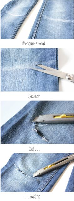 Creativity and Chocolate the blog   tutorial DIY how to ripped jeans