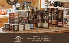Meet Melaleuca's New Mountain Cabin™ Premium Coffee & Specialty Drinks- not a coffee drinker, but this is supposedly very good coffee & even available in K cups! I will order some for my Dad & report the findings... Contact me for ordering info...~T