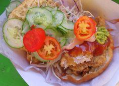 Bake Shark at Richard's (Maracas Beach) Caribbean Recipes, Caribbean Food, Trini Food, Trinidad Carnival, Tasty, Yummy Food, West Indian, Food Truck, Fried Chicken