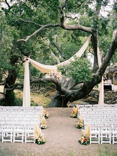 wedding ceremony setup - photo by Jen Rodriguez http://ruffledblog.com/cheerful-san-luis-obispo-wedding