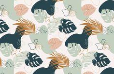 Green Tropical Leaf Pattern Wallpaper Mural | Murals Wallpaper