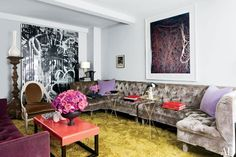 Stylist Carlos Mota's Fashionable New York Apartment Large sectional- Schmidts
