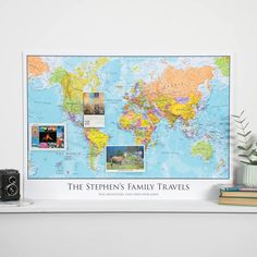 Are you interested in our personalised world map? With our map of the world personalised you need look no further.