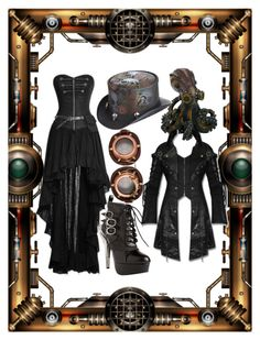 """""""Steampunk"""" by moonstar843 on Polyvore featuring HADES and Overland Sheepskin Co."""