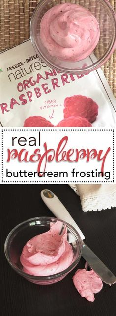 Real, All Natural Raspberry Buttercream Frosting. The best way to add REAL berries to your buttercream and get all natural flavor and color. Check out this super simple recipe. via @karascakes #raspberrybuttercream #buttercream #frosting #cakedecorating #cake