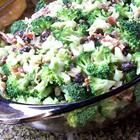 • 2 large heads of broccoli, cut into bite sized pieces  • 2 cups of red grapes, sliced in half length wise  • 1/2 C sunflower seeds  • 1 cup dried cherries, raisins, or dried cranberries  • 1/4 C red onion  • 1/4 cup cooked bacon pieces  • Dressing: 1 cup mayo  • 1/2 cup sugar, 1/3 cup vinegar white wine vinegar