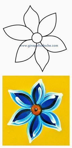 Atelier Gina Pafiadache: Flor Campestre em Bauernmalerei