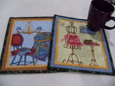 Mug Rug Coaster Set A Quilters Love Home Decor Table Linens Crafter Decor