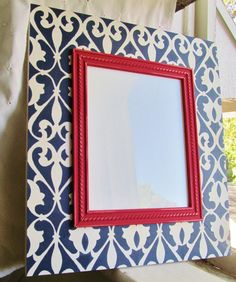 Distressed 8x10 Frame in Navy Red and Antique by AmberLaneFrames, $45.00