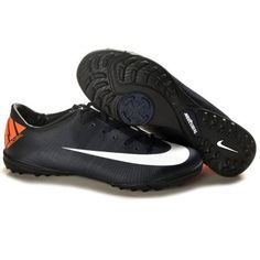 pretty nice ade91 ea970 Bota De Fútbol Nike Mercurial Ii Tf Obsidiana Blanca 526