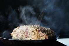 Lynne Curry's Prime Rib with Mustard and Herb Butter on Food52. It's a reverse-sear method. Cooks Illustrated is loving this method as well. Something to try