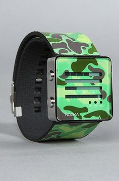 $70 The Zenh Camo Watch by NOOKA on PLNDR - Use repcode SMARTCANUCKS at the checkout for 10% off your purchase on PLNDR.com - http://lovekarmaloop.com
