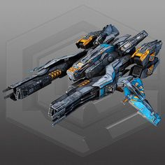 SciFi Fighter X2 3D Model Game ready .max - CGTrader.com