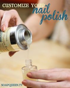 How to Make Nail Polish Video...I didn't even know you could do this, so cool!
