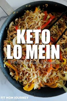 11 reviews · 25 minutes · Serves 4 · Making Keto Lo Mein is simple! With some chopping, frying, and tossing, you'll have a veggie and protein-packed lo mein that is ketogenic and a takeout copycat right in your kitchen.