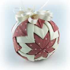 This would be fun to try and make. Instructions here: http://crafterwithoutacat.blogspot.com/2009/08/ornament-tutorial.html