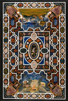 An Italian pietra dura and hardstone inlaid table top, Florence, from the Grand Ducal Workshops ca 1620- 1630, SOLD. 242,500 GBP