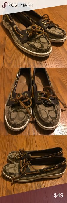 759abebe53f Coach Boat Shoes Size 6.5 Coach boat shoes. Worn a few times but in good