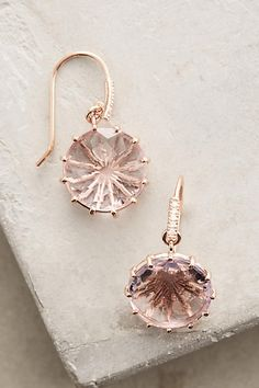 14k Gold Rose de France Hook Earrings - anthropologie.com