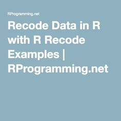 r language examples