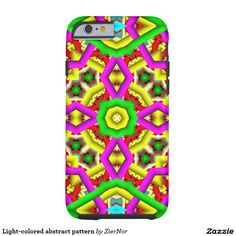 Light-colored abstract pattern tough iPhone 6 case