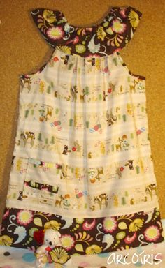 Summer Pillowcase-Styled Dress With Ruffled Neckline Tutorial