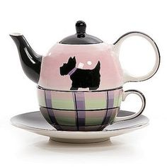 Adorable Scotty dog All-in-one teapot -- http://www.teaporia.com/shop