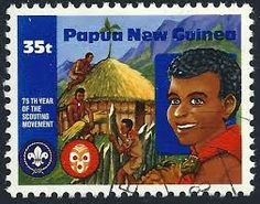 stamps and scouts new guinea
